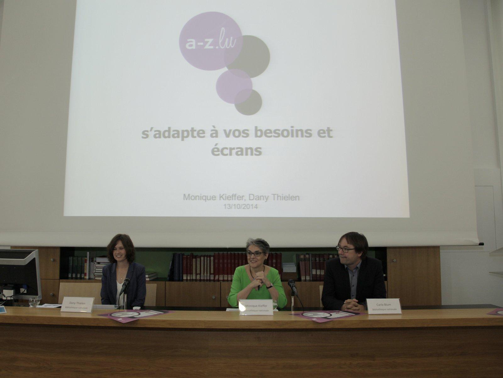 Photo de la conférence de presse du 13/10/2014